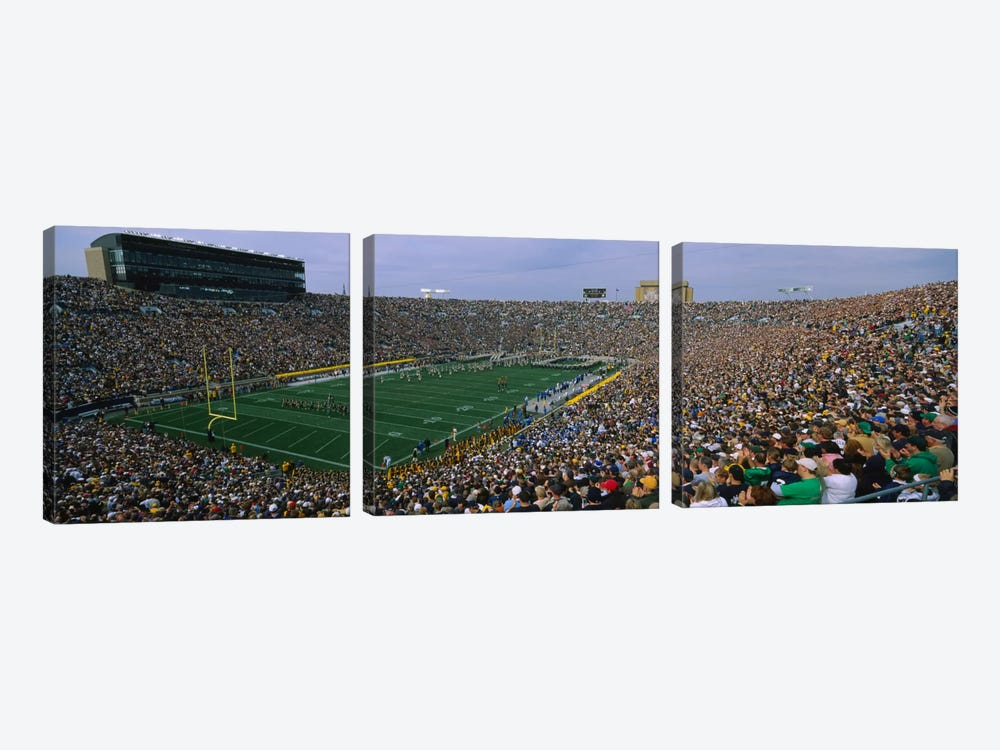 Team Entrance, Notre Dame Stadium, St. Joseph County, Indiana, USA by Panoramic Images 3-piece Canvas Wall Art