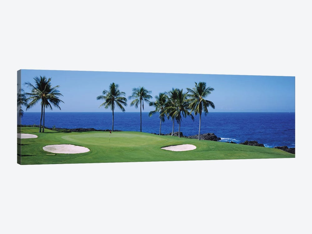Golf course at the oceanside, Kona Country Club Ocean Course, Kailua Kona, Hawaii, USA by Panoramic Images 1-piece Art Print