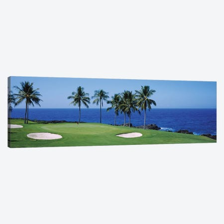 Golf course at the oceanside, Kona Country Club Ocean Course, Kailua Kona, Hawaii, USA Canvas Print #PIM12385} by Panoramic Images Canvas Print