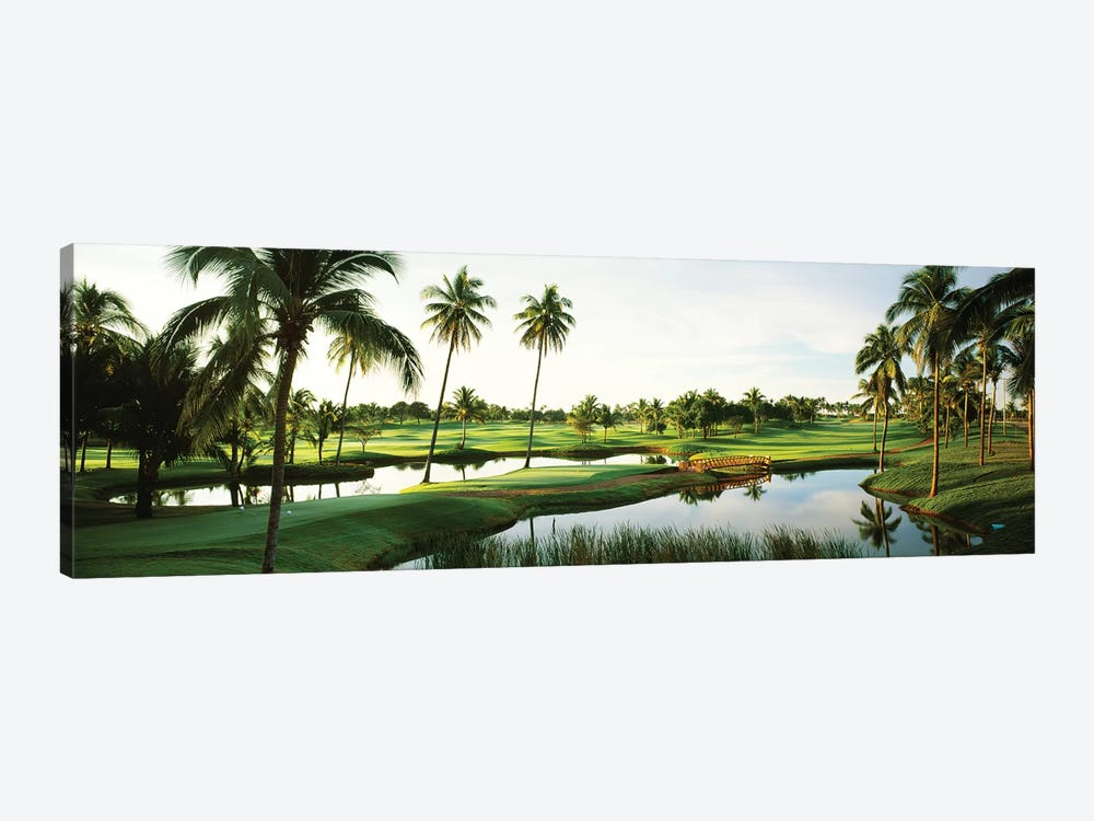 Golf course Palm Trees at Isla Navadad Resort in Manzanillo, Colima, Mexico by Panoramic Images 1-piece Canvas Artwork