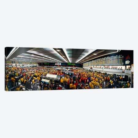 Trading Floor Chaos, Chicago Mercantile Exchange, Chicago, Illinois, USA Canvas Print #PIM1243} by Panoramic Images Art Print
