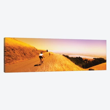 Cyclists on a road, Mt Tamalpais, Marin County, California, USA Canvas Print #PIM12447} by Panoramic Images Canvas Artwork