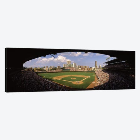 Spectators in a stadium, Wrigley Field, Chicago Cubs, Chicago, Cook County, Illinois, USA Canvas Print #PIM12457} by Panoramic Images Canvas Art Print