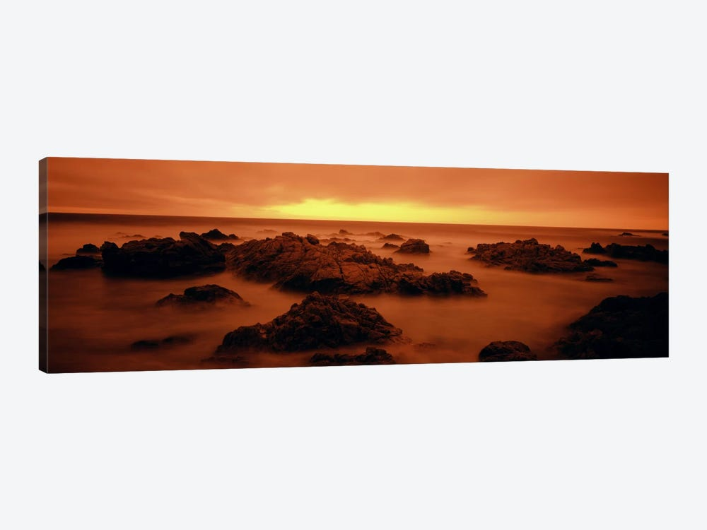 Foggy beach at dusk, Pebble Beach, Monterey County, California, USA by Panoramic Images 1-piece Canvas Art Print