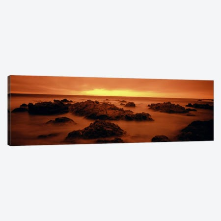 Foggy beach at dusk, Pebble Beach, Monterey County, California, USA Canvas Print #PIM1246} by Panoramic Images Canvas Wall Art