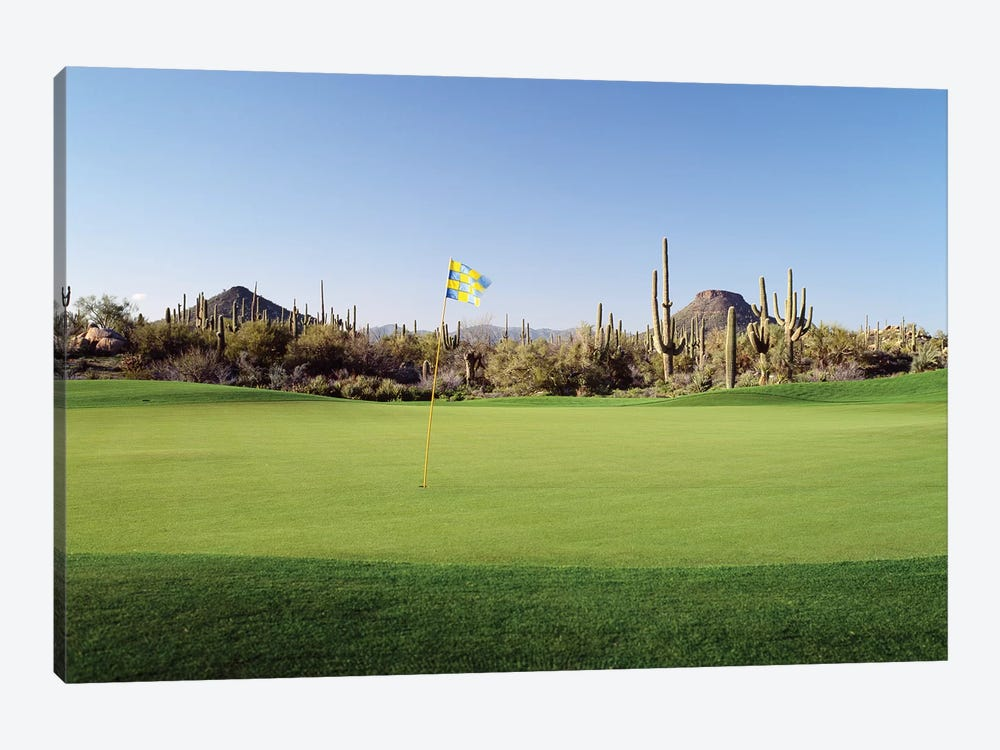 Golf flag in a golf course, Troon North Golf Club, Scottsdale, Maricopa County, Arizona, USA by Panoramic Images 1-piece Canvas Art Print