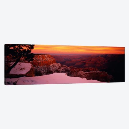 Rock formations on a landscape, Grand Canyon National Park, Arizona, USA Canvas Print #PIM1247} by Panoramic Images Canvas Art