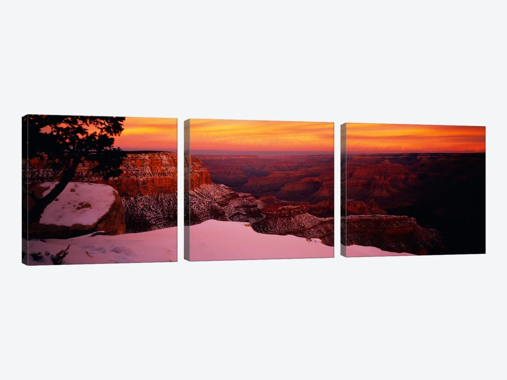 Rock formations on a landscape, Grand Canyon National Park, Arizona, USA 3-piece Canvas Art