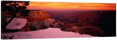 Rock formations on a landscape, Grand Canyon National Park, Arizona, USA Canvas Art Print