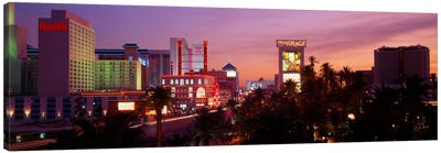 Casinos At Twilight, Las Vegas, Nevada, USA Canvas Print #PIM124