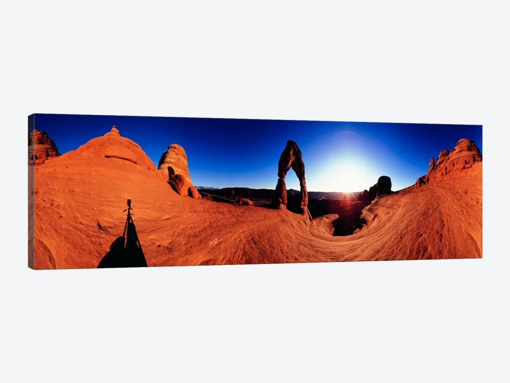 Delicate Arch At Sunrise, Arches National Park, Utah, USA by Panoramic Images 1-piece Canvas Art