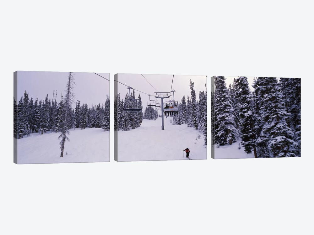 Ski Lift, Keystone Resort, Summit County, Colorado, USA 3-piece Canvas Art