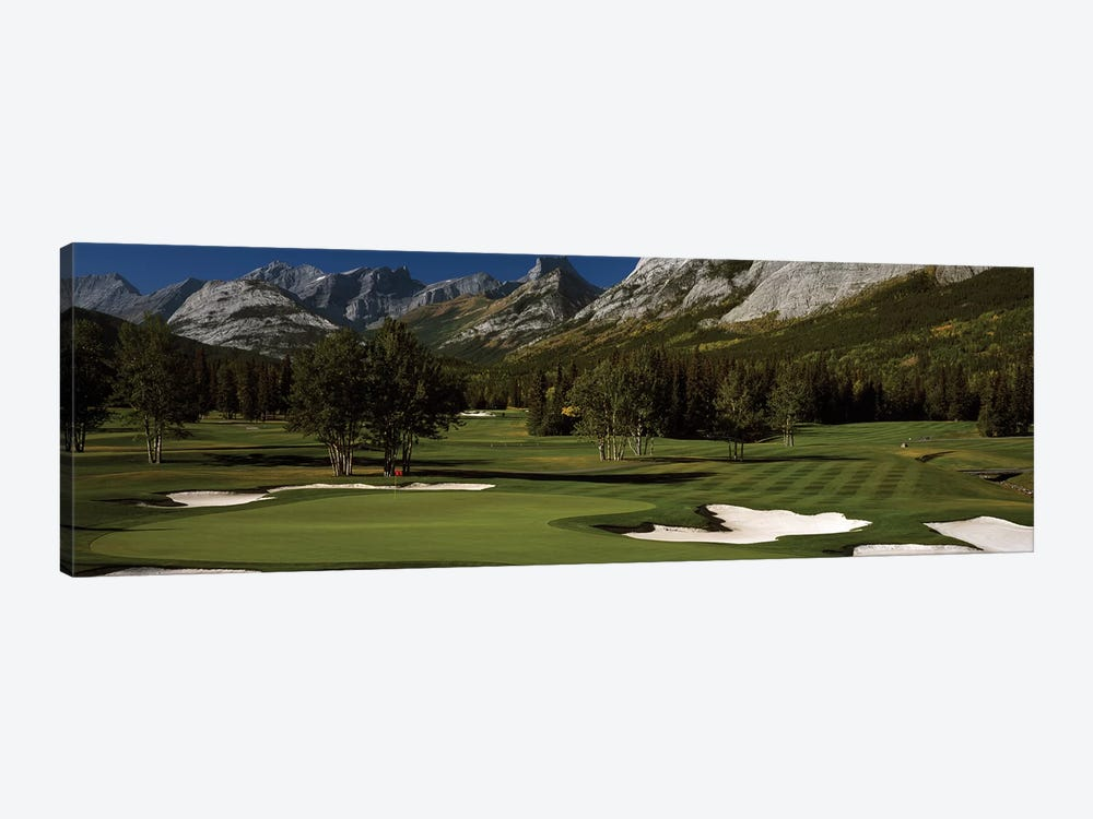 Double Green, Mt. Kidd Course, Kananaskis Country Golf Course, Kananaskis Country, Alberta, Canada by Panoramic Images 1-piece Canvas Art Print