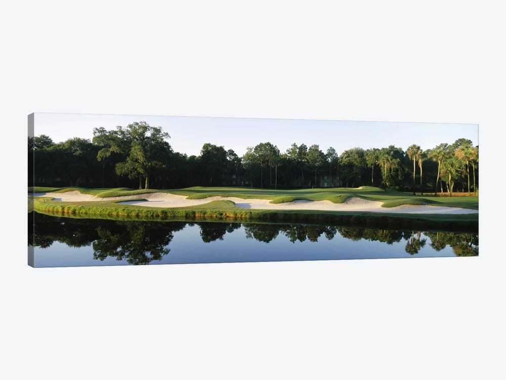 Lakeside Sand Trap, Kiawah Island Golf Resort, Charleston County, South Carolina, USA by Panoramic Images 1-piece Canvas Artwork