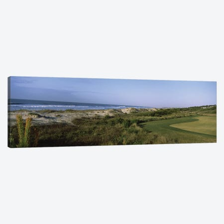 Golf course at the seaside, Kiawah Island Golf Resort, Kiawah Island, Charleston County, South Carolina, USA Canvas Print #PIM12536} by Panoramic Images Canvas Wall Art