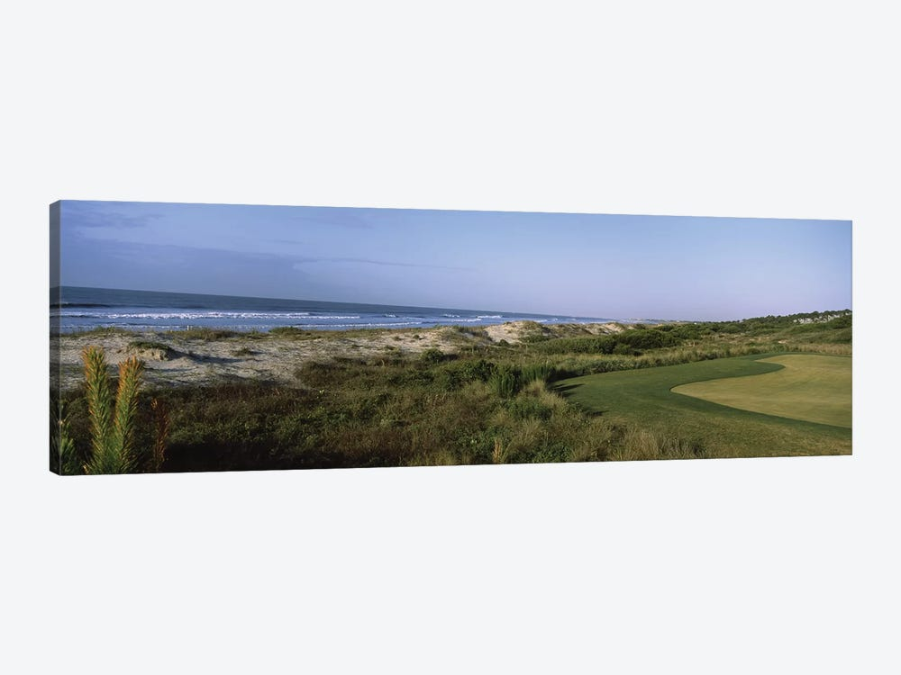 Golf course at the seaside, Kiawah Island Golf Resort, Kiawah Island, Charleston County, South Carolina, USA by Panoramic Images 1-piece Art Print