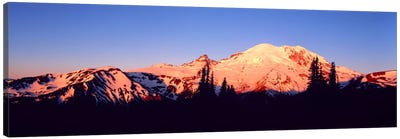 Sunset Mount Rainier Seattle WA Canvas Print #PIM1254