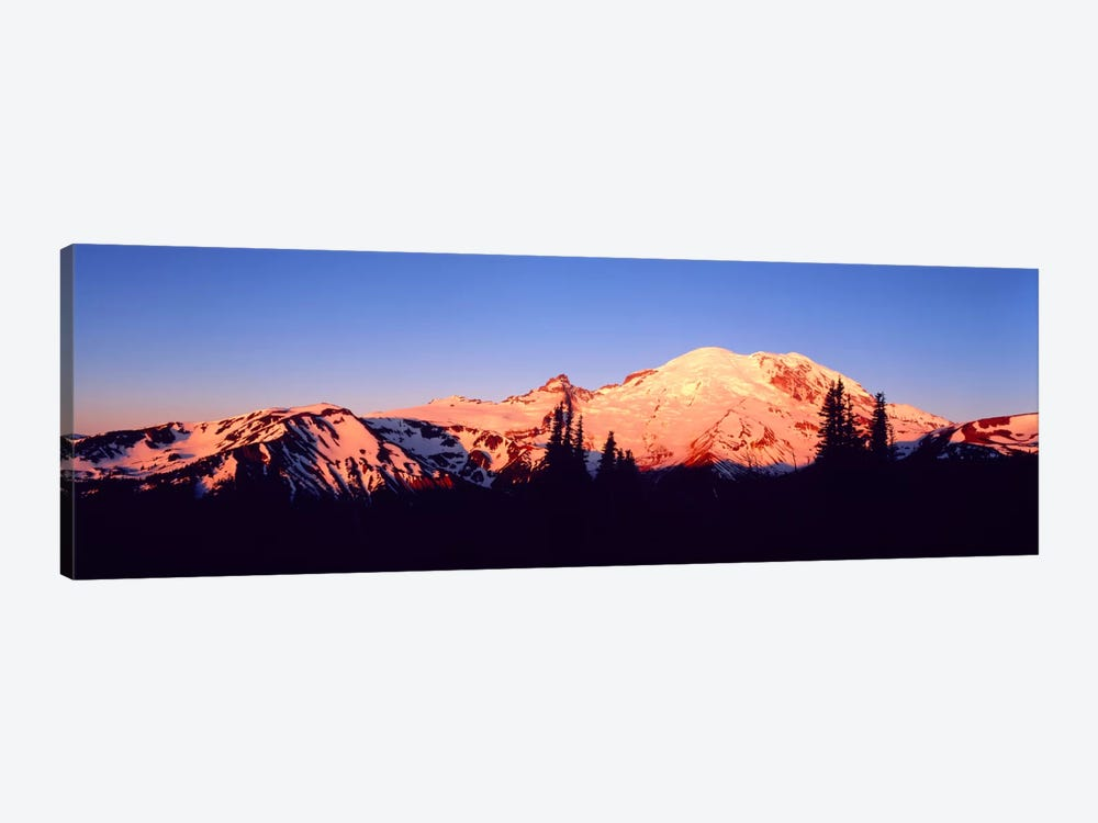 Sunset Mount Rainier Seattle WA by Panoramic Images 1-piece Canvas Art