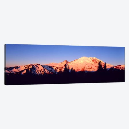 Sunset Mount Rainier Seattle WA Canvas Print #PIM1254} by Panoramic Images Art Print