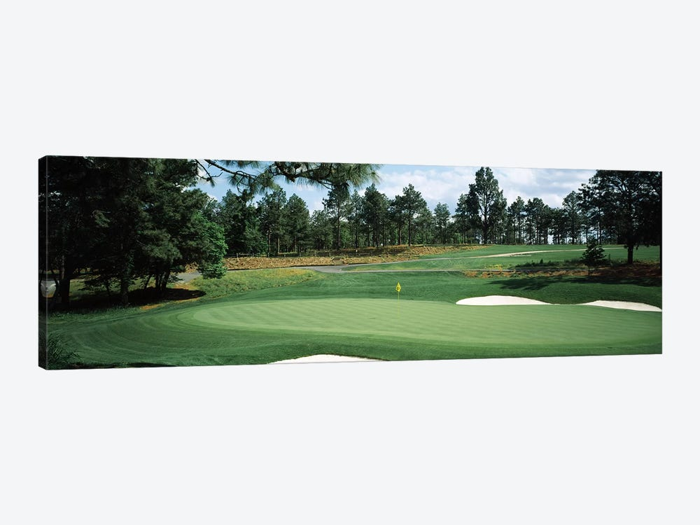Golf course, Pine Needles Golf Course, Southern Pines, Moore County, North Carolina, USA by Panoramic Images 1-piece Canvas Art Print