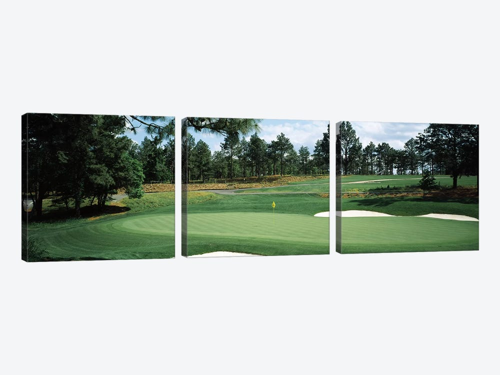 Golf course, Pine Needles Golf Course, Southern Pines, Moore County, North Carolina, USA by Panoramic Images 3-piece Canvas Print