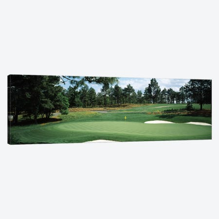 Golf course, Pine Needles Golf Course, Southern Pines, Moore County, North Carolina, USA 3-Piece Canvas #PIM12567} by Panoramic Images Canvas Art Print