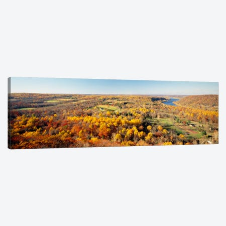 Aerial view of a landscapeDelaware River, Washington Crossing, Bucks County, Pennsylvania, USA Canvas Print #PIM1258} by Panoramic Images Canvas Art