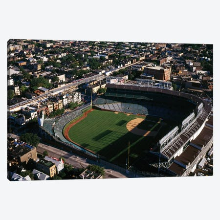 Aerial view of Wrigley Field, Chicago, Cook County, Illinois, USA Canvas Print #PIM12599} by Panoramic Images Canvas Art Print