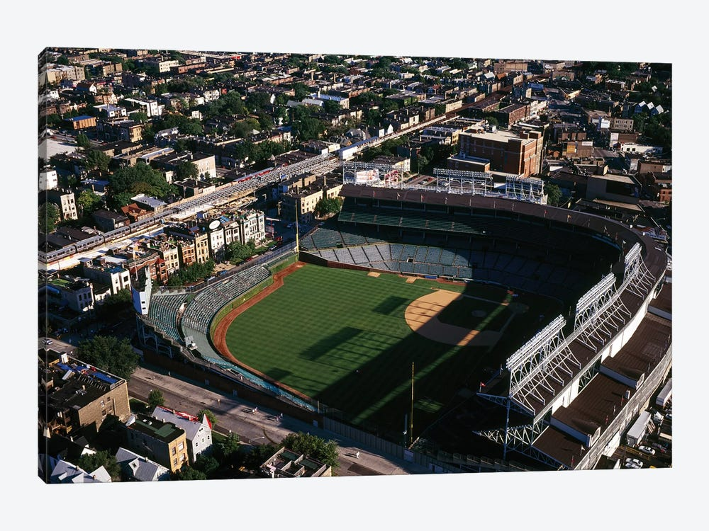 Aerial view of Wrigley Field, Chicago, Cook County, Illinois, USA by Panoramic Images 1-piece Canvas Art