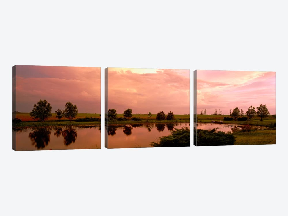 Country pond IL USA by Panoramic Images 3-piece Canvas Art Print