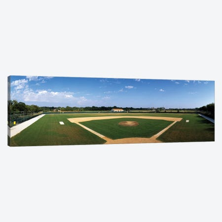 High school baseball diamond field, Lincolnshire, Lake County, Illinois, USA Canvas Print #PIM12602} by Panoramic Images Canvas Art Print