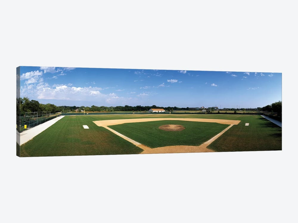 High school baseball diamond field, Lincolnshire, Lake County, Illinois, USA by Panoramic Images 1-piece Canvas Artwork