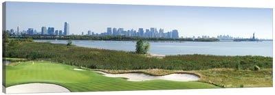 Liberty National Golf Club with Lower Manhattan and Statue Of Liberty in the background, Jersey City, New Jersey, USA 2010 Canvas Art Print