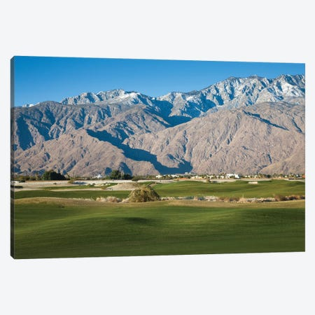 Golf course with mountain range, Desert Princess Country Club, Palm Springs, Riverside County, California, USA Canvas Print #PIM12627} by Panoramic Images Canvas Art