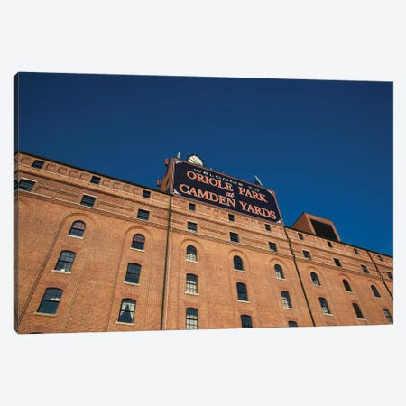 Low angle view of a baseball park, Oriole Park at Camden Yards, Baltimore, Maryland, USA Canvas Print #PIM12672} by Panoramic Images Canvas Artwork