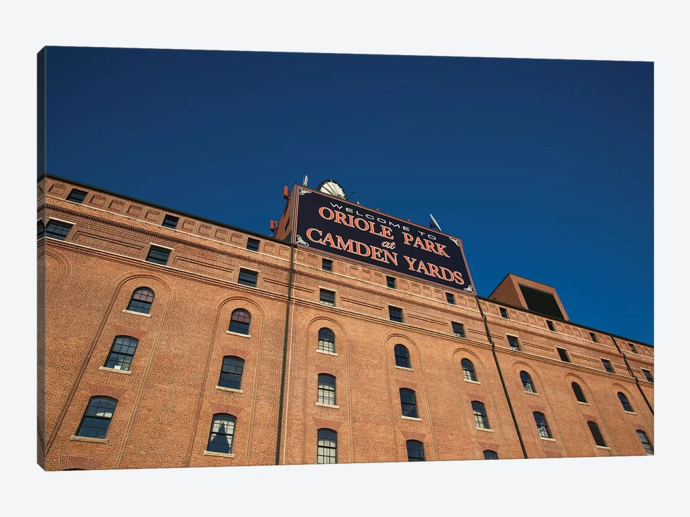 Low angle view of a baseball park, Oriole Park at Camden Yards, Baltimore, Maryland, USA by Panoramic Images 1-piece Art Print