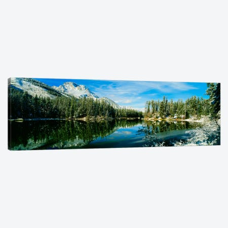 Winter Reflection, Yellowstone National Park, Wyoming, USA Canvas Print #PIM1267} by Panoramic Images Canvas Artwork