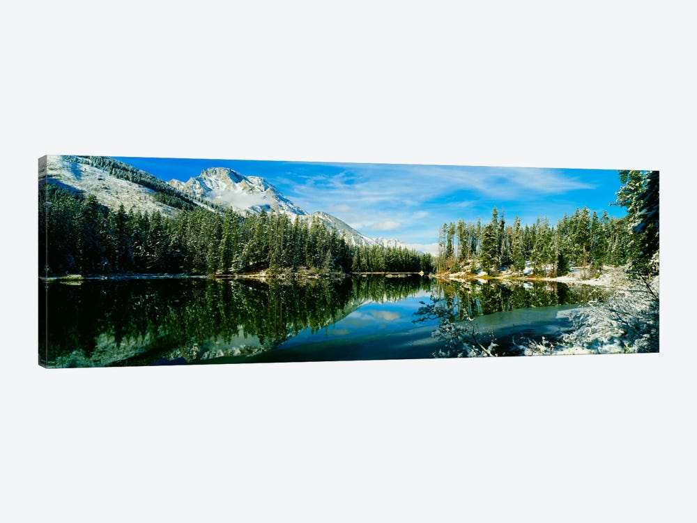 Winter Reflection, Yellowstone National Park, Wyoming, USA by Panoramic Images 1-piece Canvas Art
