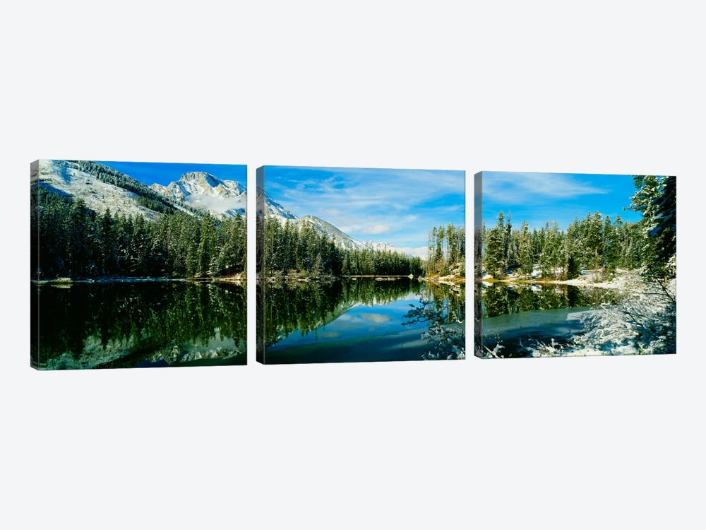 Winter Reflection, Yellowstone National Park, Wyoming, USA by Panoramic Images 3-piece Canvas Art