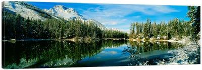 Winter Reflection, Yellowstone National Park, Wyoming, USA Canvas Art Print