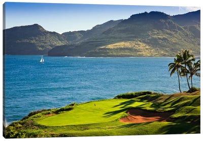 Oceanside Green, 14th Hole, Ocean Course, Hokuala Kaua'i Resort, Hawaii, USA Canvas Art Print