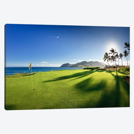 14th Hole Pin, Ocean Course, Hokuala Kaua'i Resort, Hawaii, USA Canvas Print #PIM12684} by Panoramic Images Canvas Art