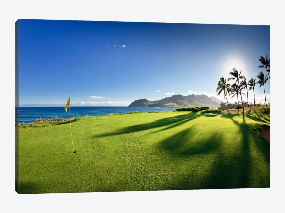 14th Hole Pin, Ocean Course, Hokuala Kaua'i Resort, Hawaii, USA by Panoramic Images 1-piece Canvas Artwork