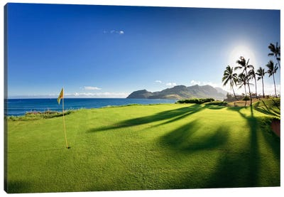 14th Hole Pin, Ocean Course, Hokuala Kaua'i Resort, Hawaii, USA Canvas Art Print