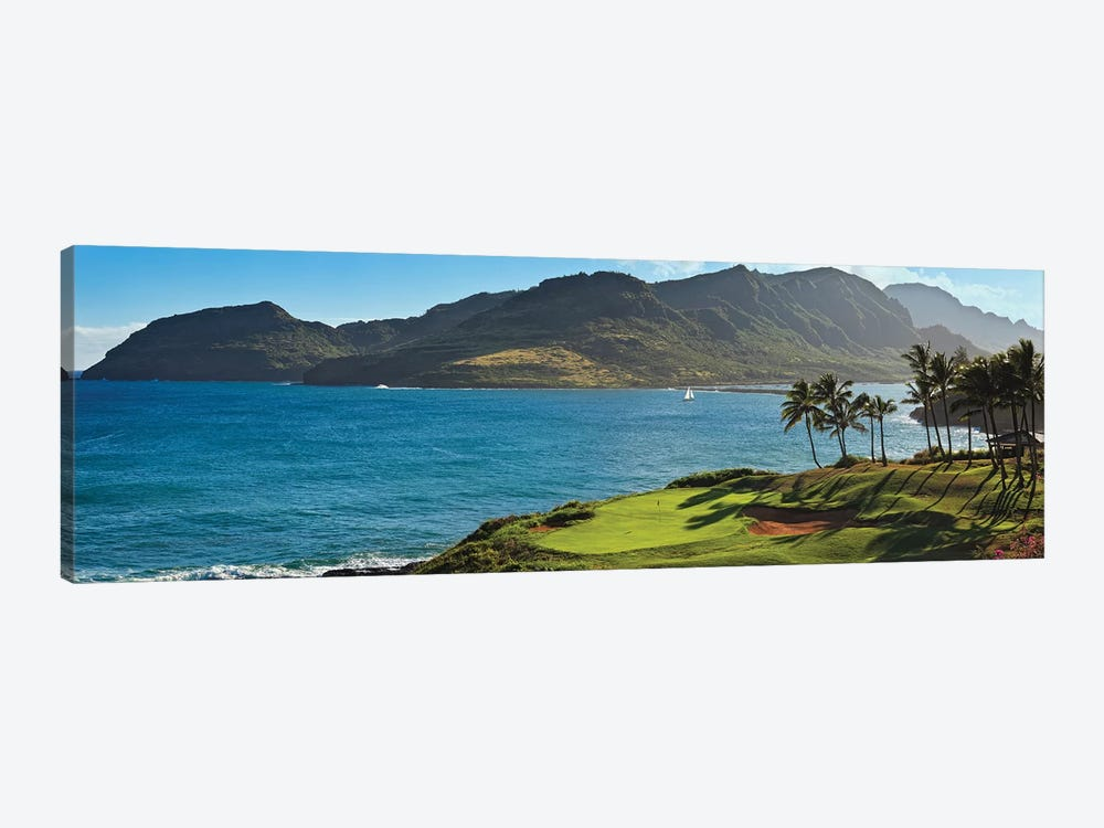 Palm trees in a golf course 2, Kauai Lagoons, Kauai, Hawaii, USA by Panoramic Images 1-piece Art Print