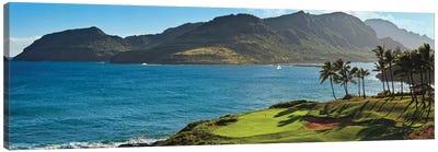 Palm trees in a golf course 2, Kauai Lagoons, Kauai, Hawaii, USA Canvas Art Print