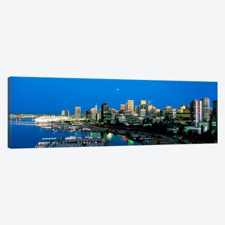 Evening skyline Vancouver British Columbia Canada Canvas Print #PIM126} by Panoramic Images Canvas Wall Art