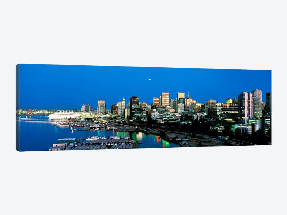 Evening skyline Vancouver British Columbia Canada by Panoramic Images 1-piece Canvas Art Print