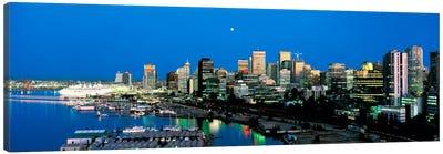 Evening skyline Vancouver British Columbia Canada Canvas Art Print