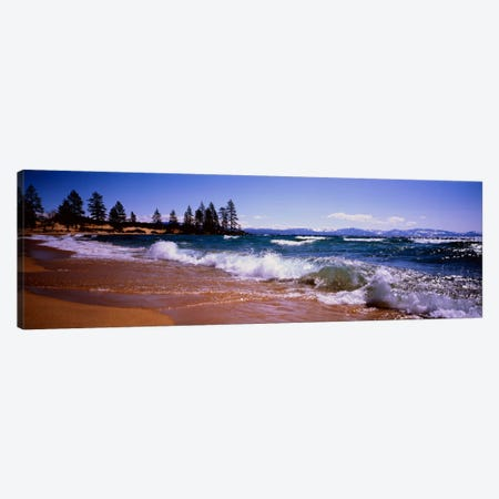 Crashing Waves, Lake Tahoe, Nevada, USA Canvas Print #PIM1271} by Panoramic Images Canvas Wall Art